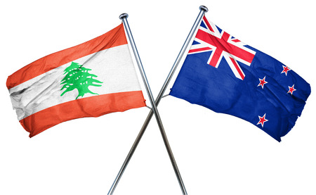 combined: Lebanon flag combined with new zealand flag