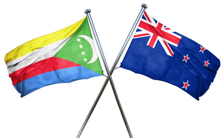 zealand: Comoros flag combined with new zealand flag