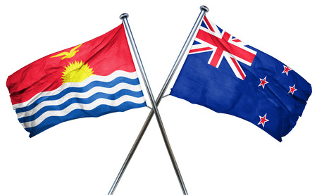 kiribati: Kiribati flag combined with new zealand flag Stock Photo