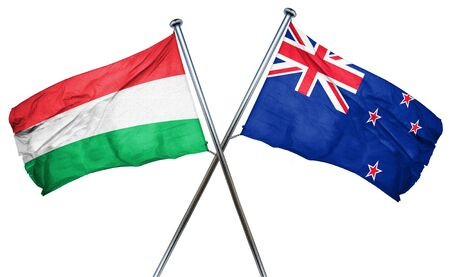 hungary: Hungary flag combined with new zealand flag Stock Photo