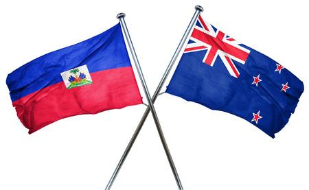 isolation backdrop: Haiti flag combined with new zealand flag
