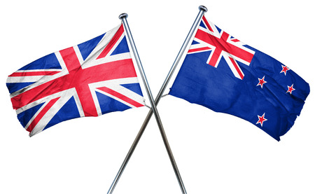 british culture: Great britain flag combined with new zealand flag