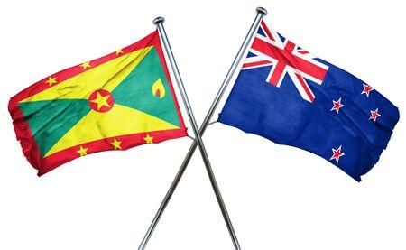 grenada: Grenada flag combined with new zealand flag