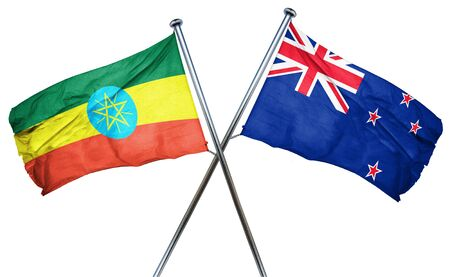 combined: Ethiopia flag combined with new zealand flag