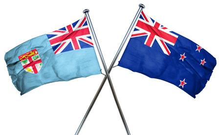 fiji: Fiji flag combined with new zealand flag Stock Photo