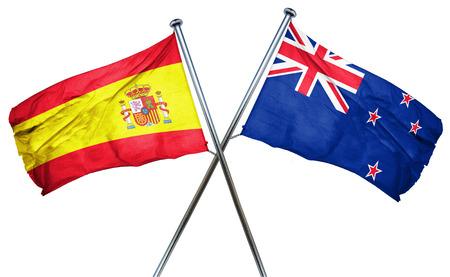 spanish flag: Spanish flag combined with new zealand flag