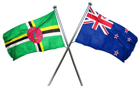 isolation backdrop: Dominica flag combined with new zealand flag