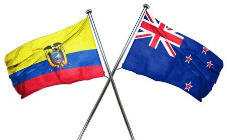 ecuador: Ecuador flag combined with new zealand flag Stock Photo