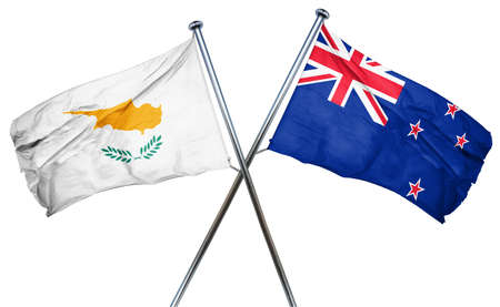 treaty: Cyprus flag combined with new zealand flag