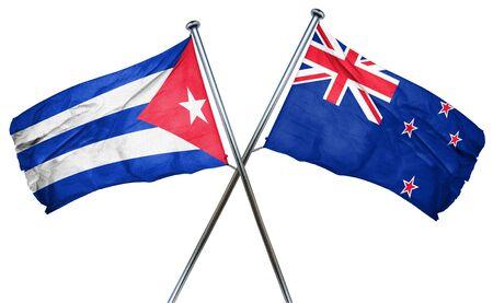 cuba flag: Cuba flag combined with new zealand flag