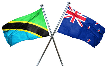 combined: Tanzanian flag combined with new zealand flag