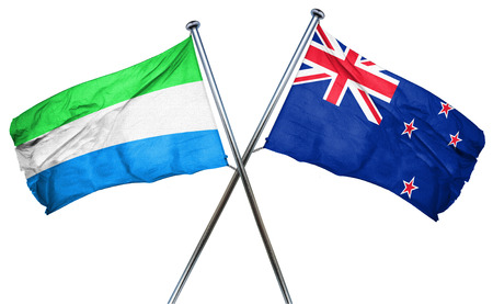 isolation backdrop: Sierra Leone flag combined with new zealand flag
