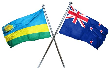 isolation backdrop: Rwanda flag combined with new zealand flag