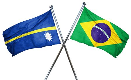amity: Nauru flag combined with brazil flag
