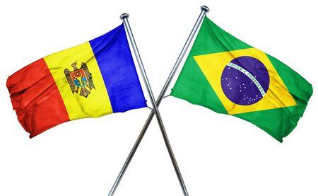 moldovan: Moldova flag combined with brazil flag