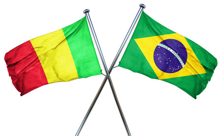 isolation backdrop: Mali flag combined with brazil flag