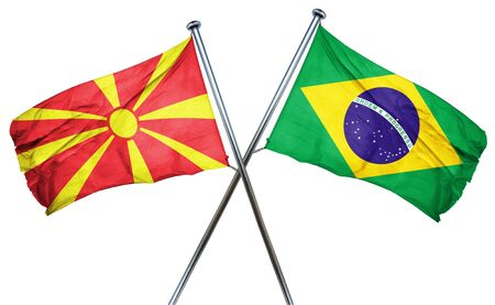 macedonia: Macedonia flag combined with brazil flag