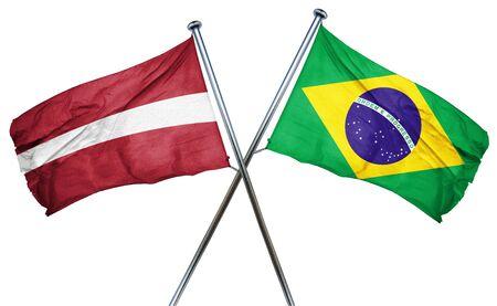latvia flag: Latvia flag combined with brazil flag