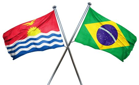 amity: Kiribati flag combined with brazil flag