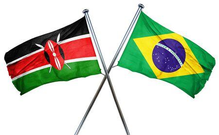 kenya: Kenya flag combined with brazil flag Stock Photo