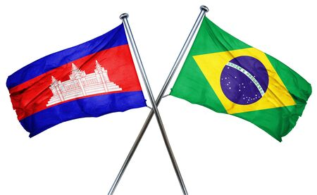 cambodia: Cambodia flag combined with brazil flag