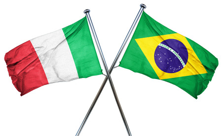 amity: Italy flag combined with brazil flag