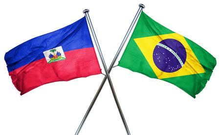 haiti: Haiti flag combined with brazil flag Stock Photo