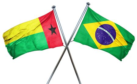 amity: Guinea bissau flag combined with brazil flag