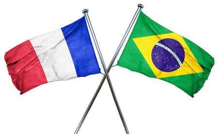 amity: France flag combined with brazil flag