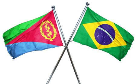 combined: Eritrea flag combined with brazil flag