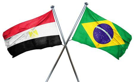 bandera egipto: bandera de Egipto se combina con la bandera de Brasil Foto de archivo