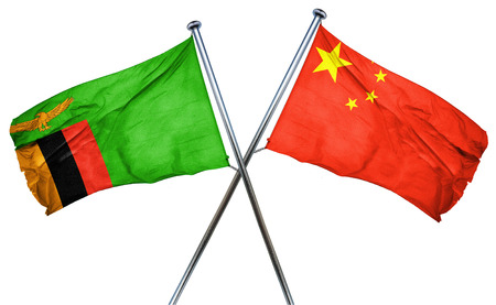 zambia flag: Zambia flag combined with china flag