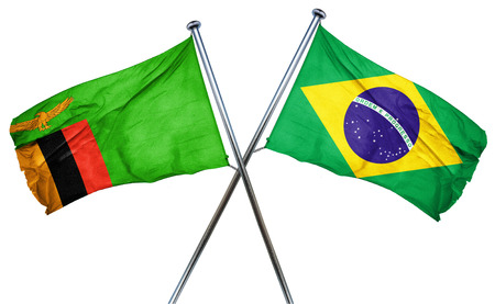 zambia flag: Zambia flag combined with brazil flag