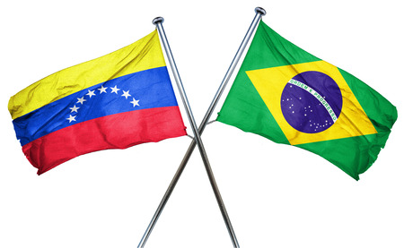 combined: Venezuela flag combined with brazil flag