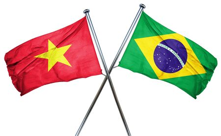treaty: Vietnam flag combined with brazil flag