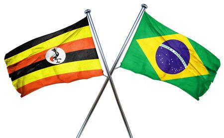 combined: Uganda flag combined with brazil flag
