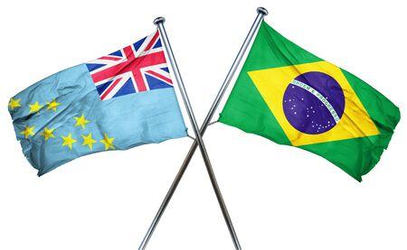 tuvalu: Tuvalu flag combined with brazil flag Stock Photo