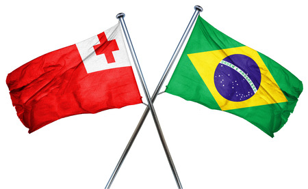 amity: Tonga flag combined with brazil flag