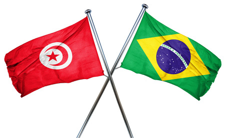 amity: Tunesia flag combined with brazil flag