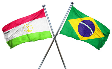 amity: Tajikistan flag combined with brazil flag