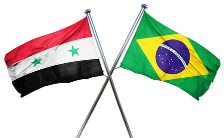 amity: Syria flag combined with brazil flag