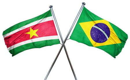 suriname: Suriname flag combined with brazil flag