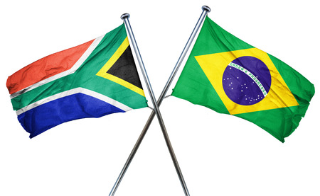 south africa flag: South africa flag combined with brazil flag