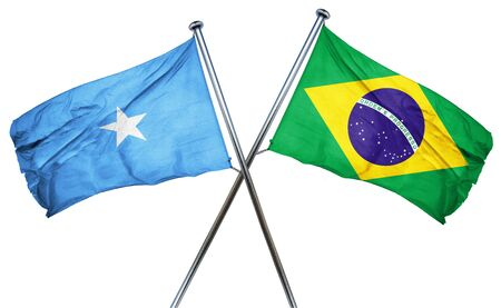 somalian culture: Somalia flag combined with brazil flag