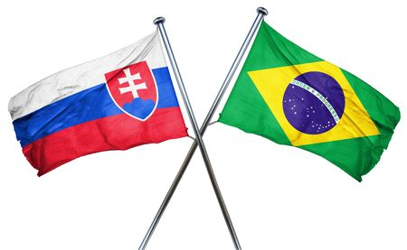 slovakia flag: Slovakia flag combined with brazil flag