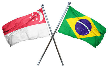amity: Singapore flag combined with brazil flag