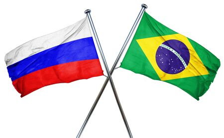 russia flag: Russia flag combined with brazil flag