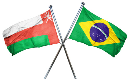 combined: Oman flag combined with brazil flag