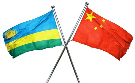 rwanda: Rwanda flag combined with china flag