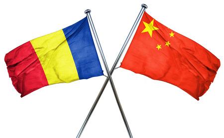 romania flag: Romania flag combined with china flag